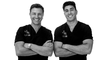 Dentist Dr Fadi Yassmin and a member of the dental team at FY Smile dental clinic.